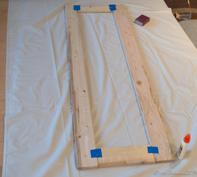 Mirror frame glued