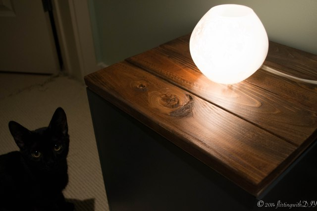 Catniss polycrylic planked nightstand