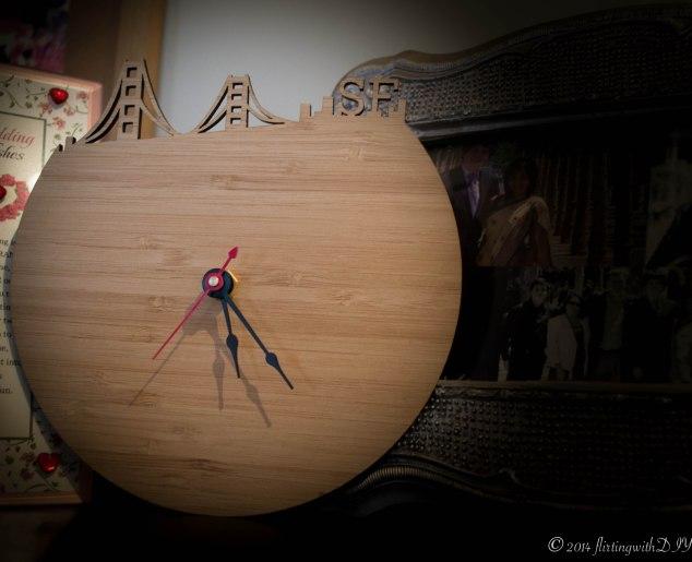iluxo, SF modern wall clock, laser cut