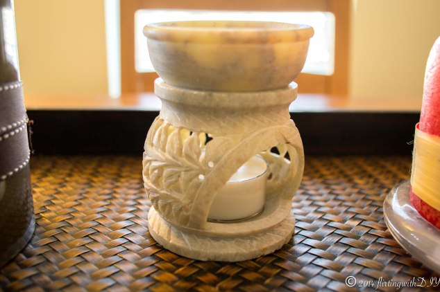 bone carved essential oil burner