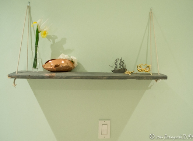 Decorative hanging shelf