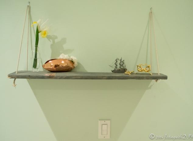 Decorative hanging shelf