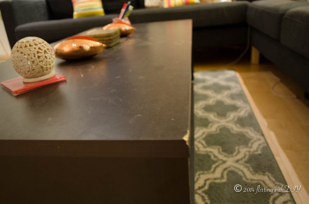 Tvilum coffee table scratched