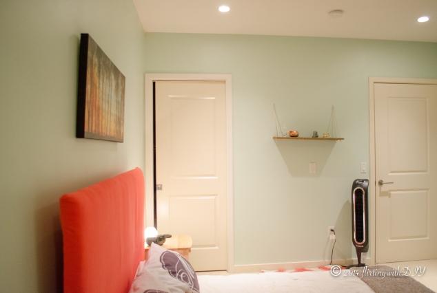 mint bedroom coral headboard