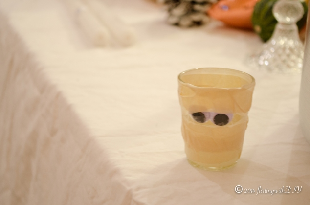 shot glass mummies halloween