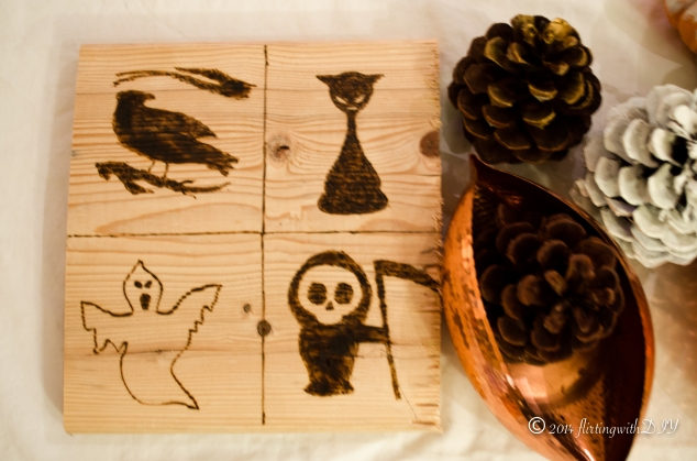 halloween decoration wood burned images