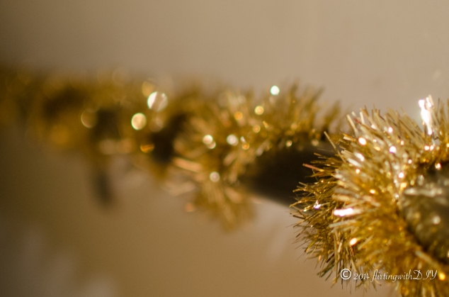 close up staircase tinsel